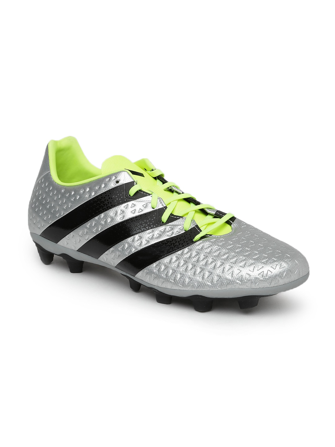 huge selection of 1d0c4 23dba Adidas s79728 Men Silver Toned Ace 16 4 Fxg Football Shoes- Price in India