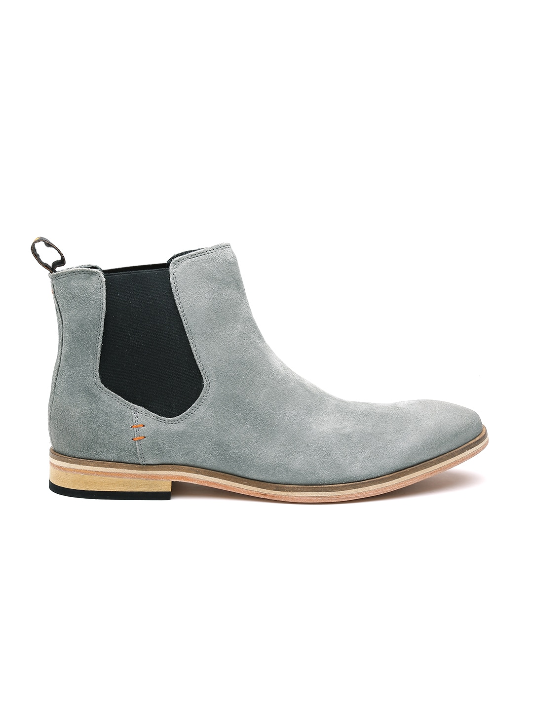Superdry Mf2ms014f2 Men Grey Suede Chelsea Boots Best Price In