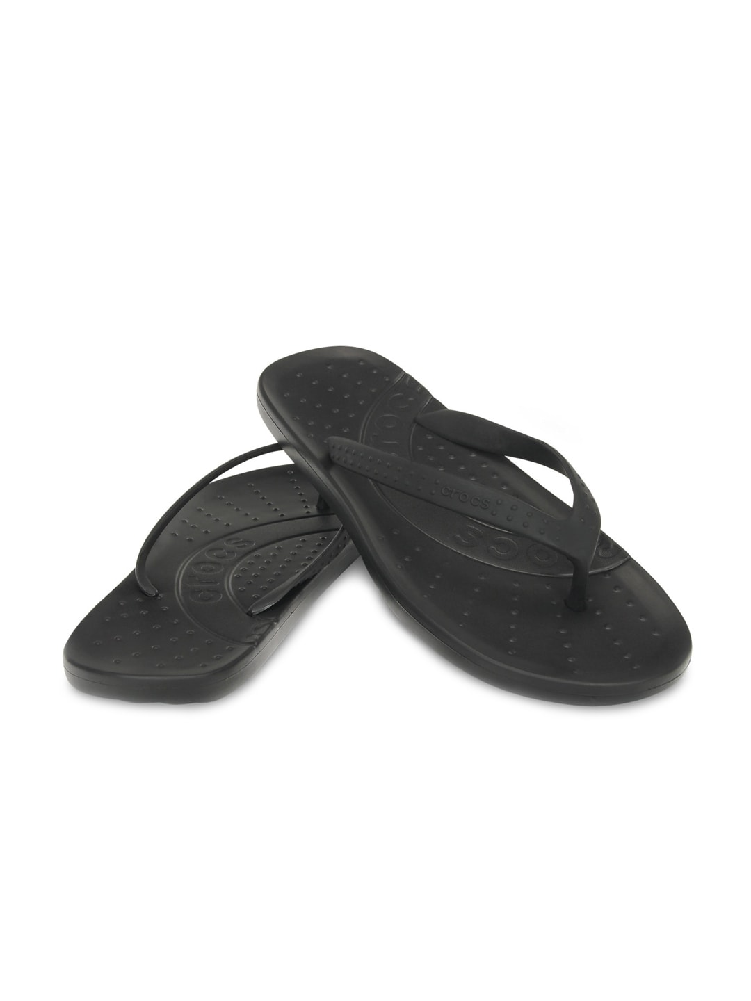 694af7e2d Crocs 15963-001 Men Black Flip Flops - Best Price in India