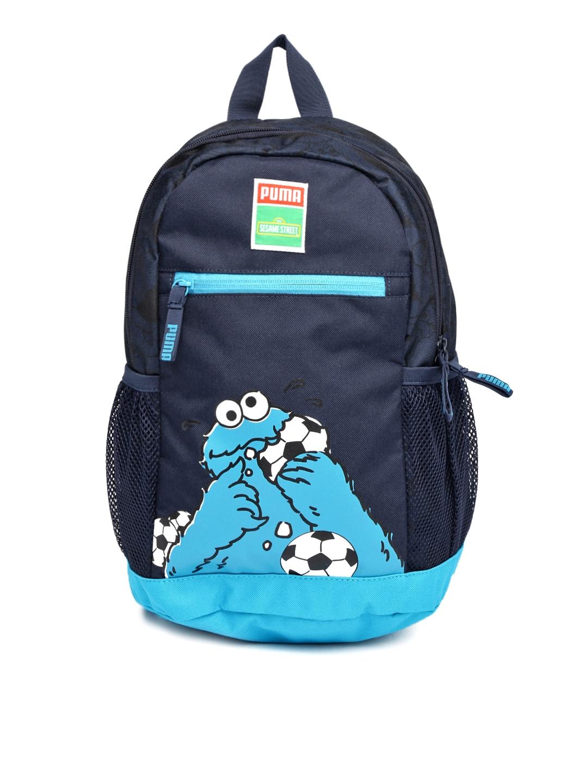 1ebed911012e49 Puma 7382901 Kids Navy Printed Sesame Street Backpack- Price in India