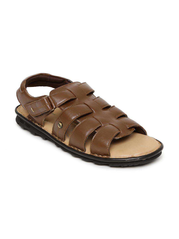 bef22d4279 Hush puppies 8643914 Men Tan Brown Leather Sandals - Best Price in ...