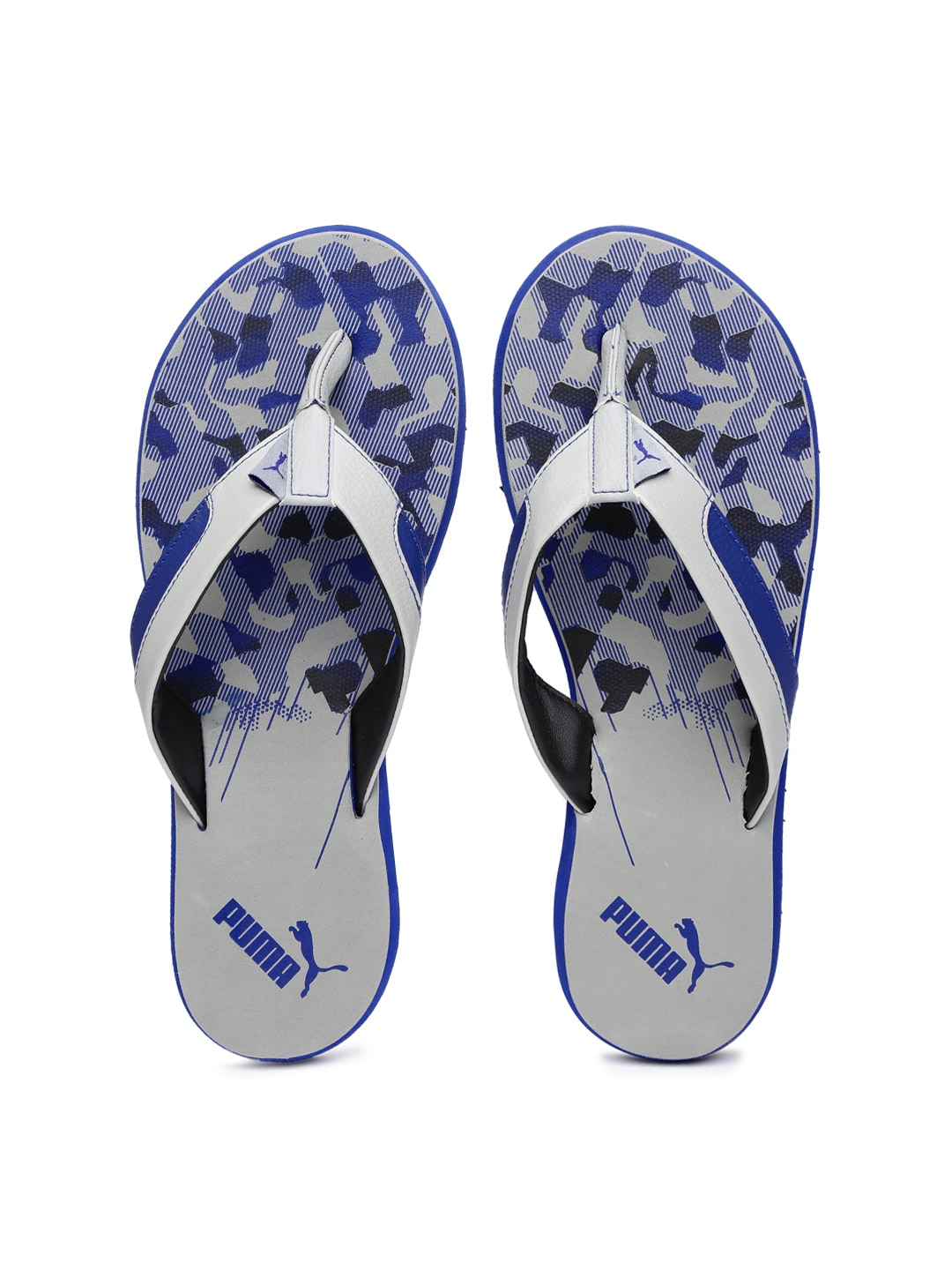 d60cf5bffd31 Puma 18888401 Men Grey And Blue Wrens Dp Printed Flip Flops- Price in India