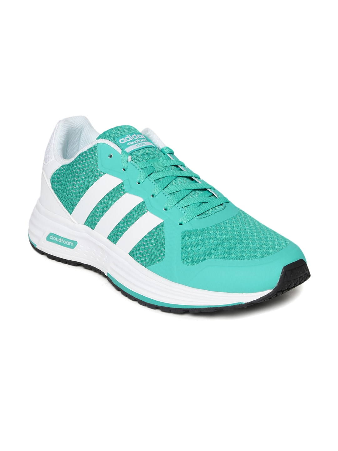 Adidas aw5248 Neo Women Green Cloudfoam Flyer Casual Shoes ... 12a7cdc599