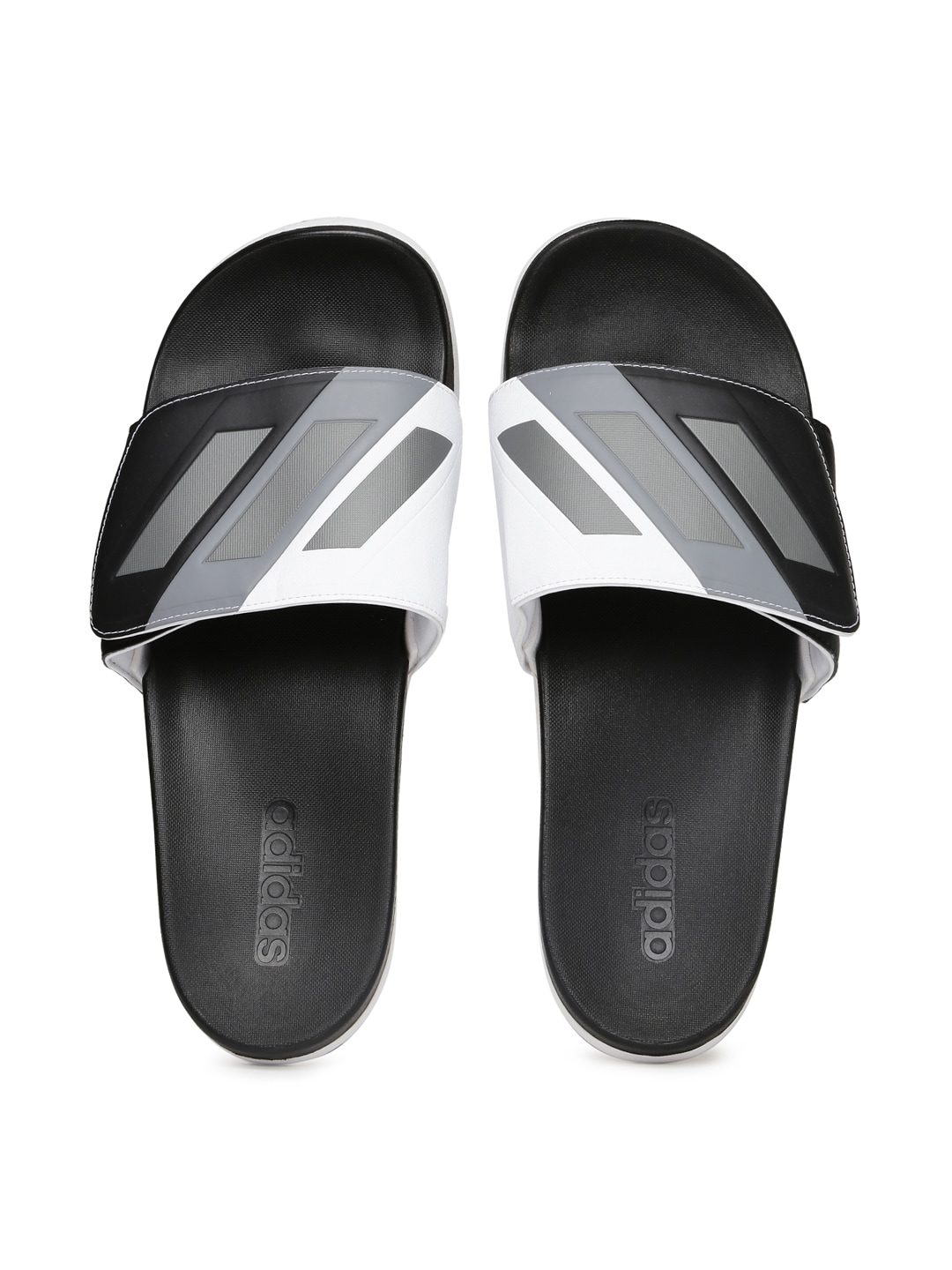 609317ae4b7 Adidas s80344 Men Black And White Flip Flops - Best Price in India ...