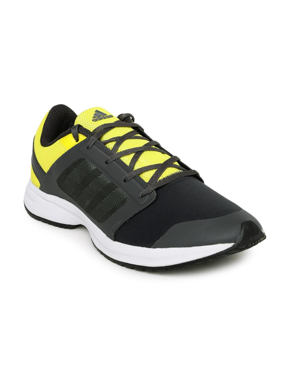 Adidas ba2810 uomini grigio antracite e giallo kray 1 0 scarpe da corsa