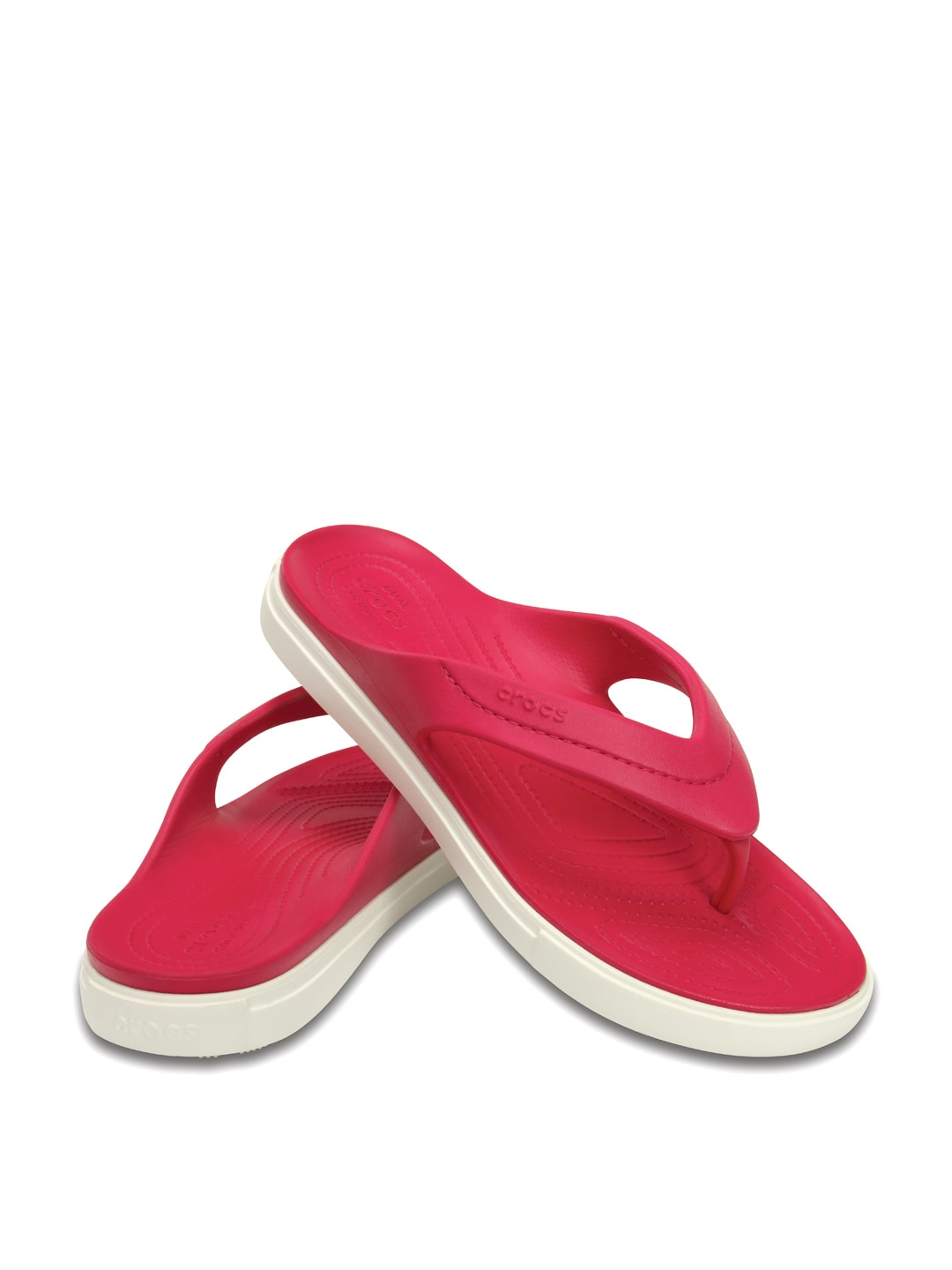 488e150cab94a Crocs 202831-604 Women Pink Flip Flops - Best Price in India ...