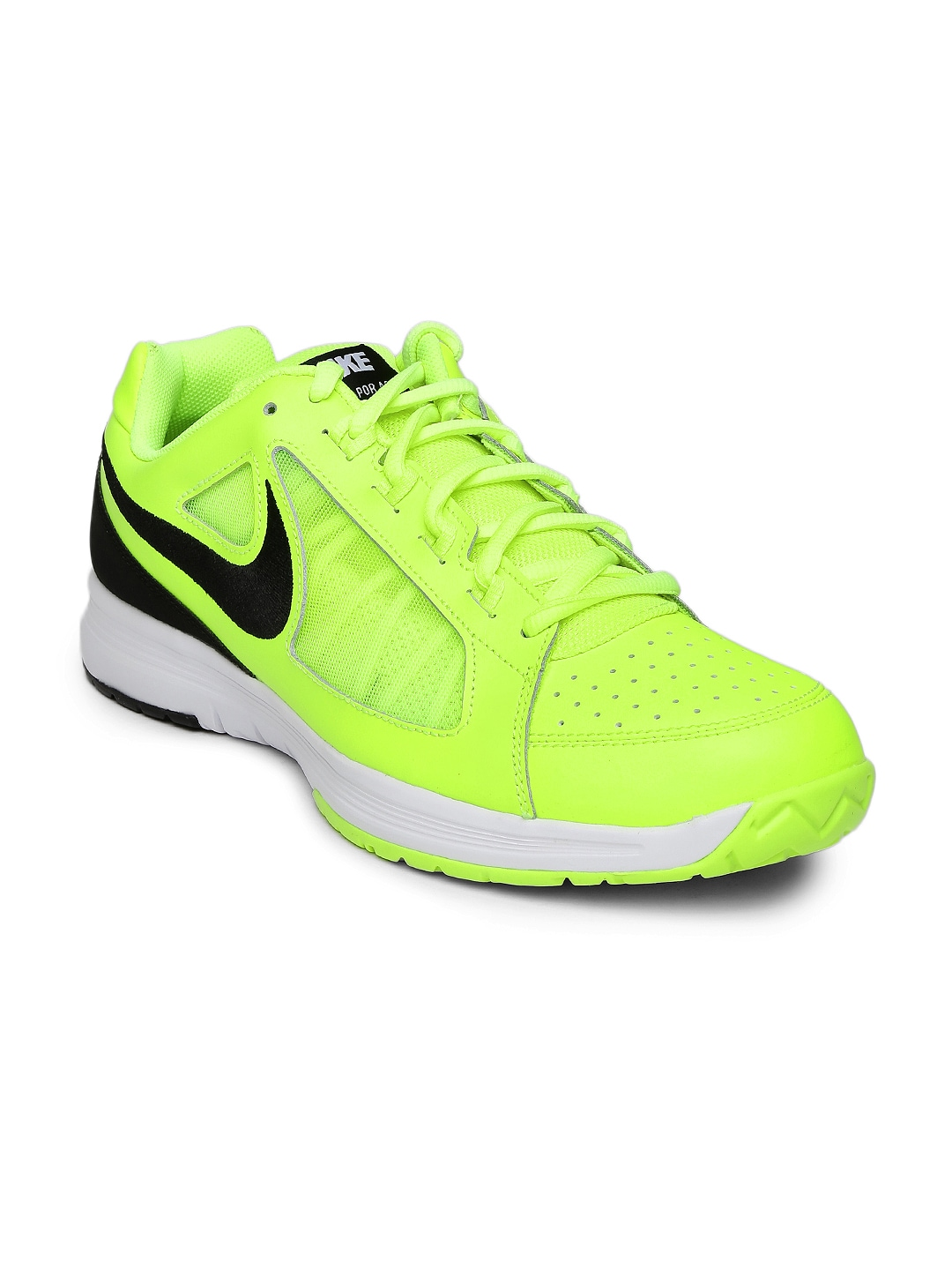 2d8f1b6da319b1 Nike 724868-701 Men Fluorescent Green Air Vapor Ace Leather Tennis Shoes-  Price in India
