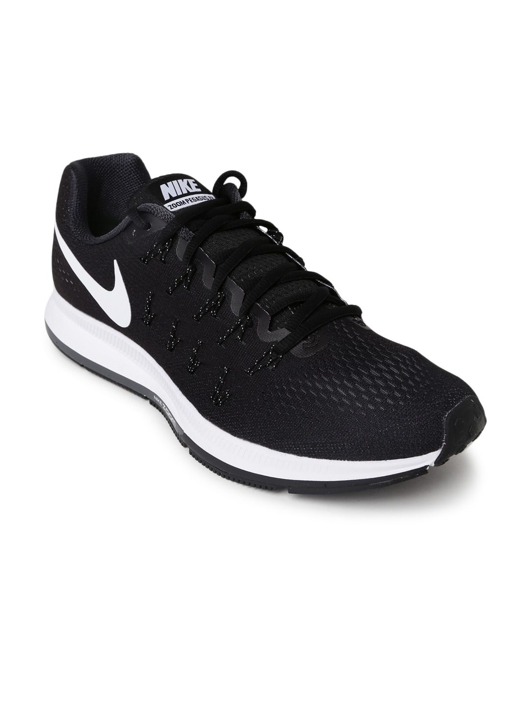 bfaeedc1f180 Nike 831352-001 Men Black Air Zoom Pegasus 33 Running Shoes- Price in India