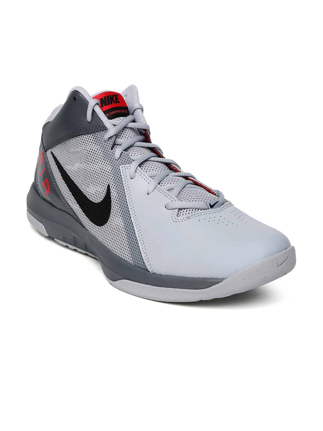6d877f886be Nike 831572-006 Men Grey Air Overplay Ix Mid Top Basketball Shoes- Price in  India