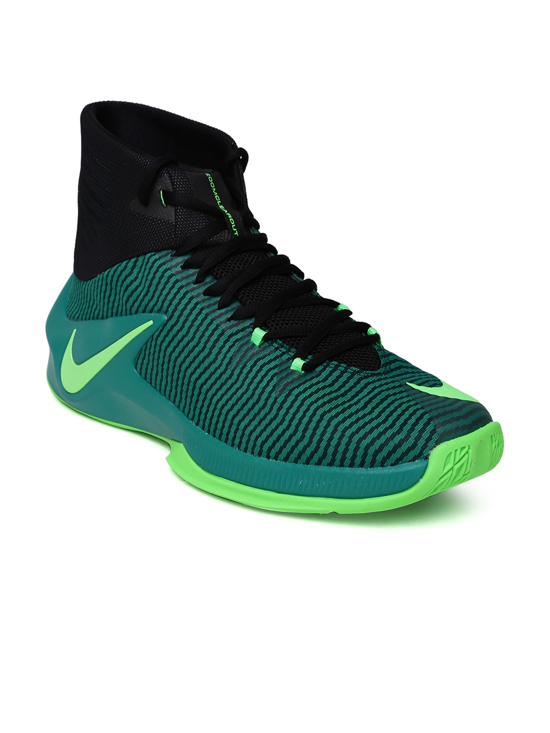 bac9f38b560b Nike 844370-330 Men Teal Green And Black Zoom Clear Out Basketball Shoes-  Price in India
