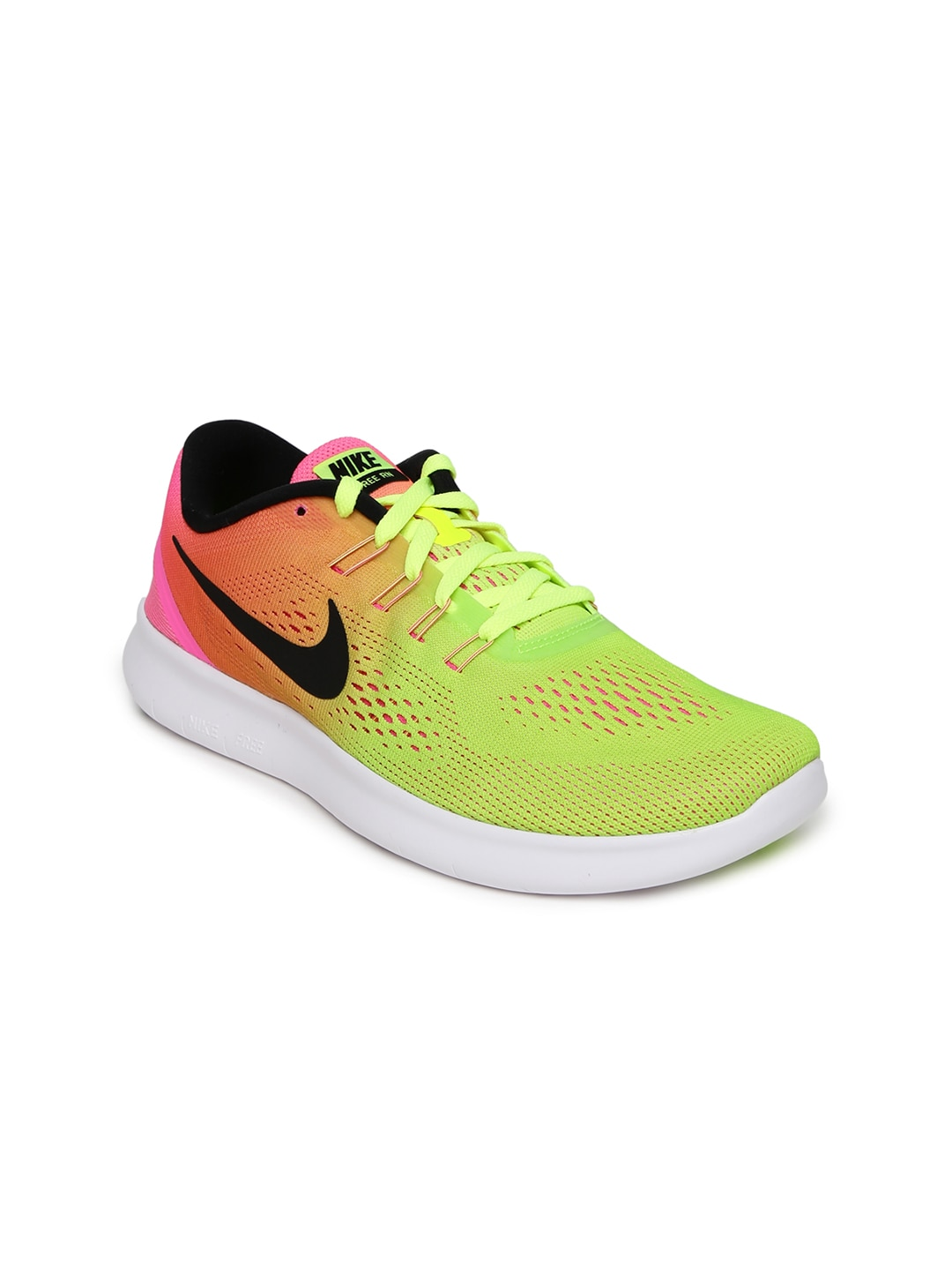 945e6e798a0e6 Nike 844630-999 Women Fluorescent Green And Pink Free Rn Oc Running Shoes-  Price in India