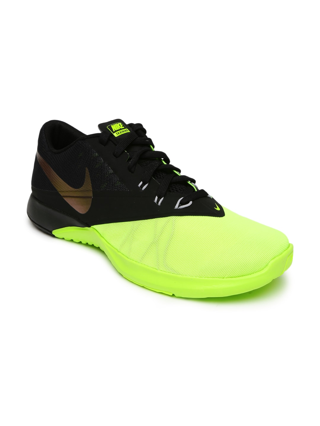 new styles 2844c 323b5 Nike 844794-701 Men Fluorescent Green And Black Fs Lite 4 Training Shoes-  Price in India