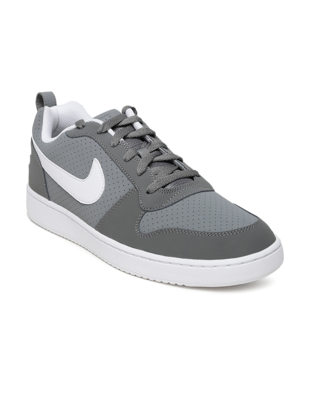 wholesale sales wholesale online new lifestyle Nike 838937-011 Men Grey Court Borough Sneakers - Best ...