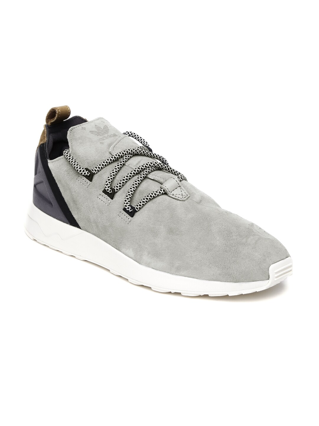 reputable site 79498 7ed19 Adidas s76364 Men Grey Zx Flux Adv X Suede Sneakers ...