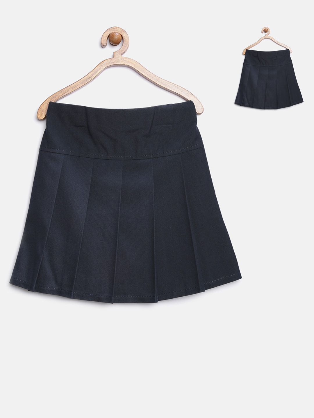 6377c3418 Marks and spencer 174-navy Kids Girls Pack Of 2 Navy Pleated A Line Skirt-  Price in India