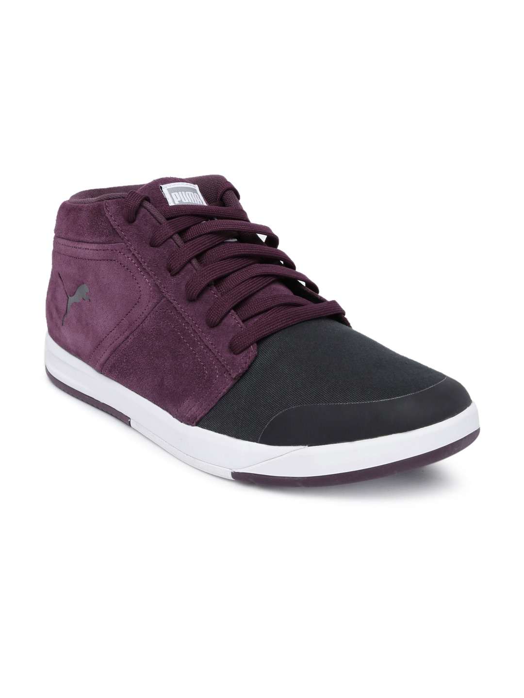 c5952bacfc2 Puma 36135802 Men Burgundy And Black Funist Demi Sneakers- Price in India