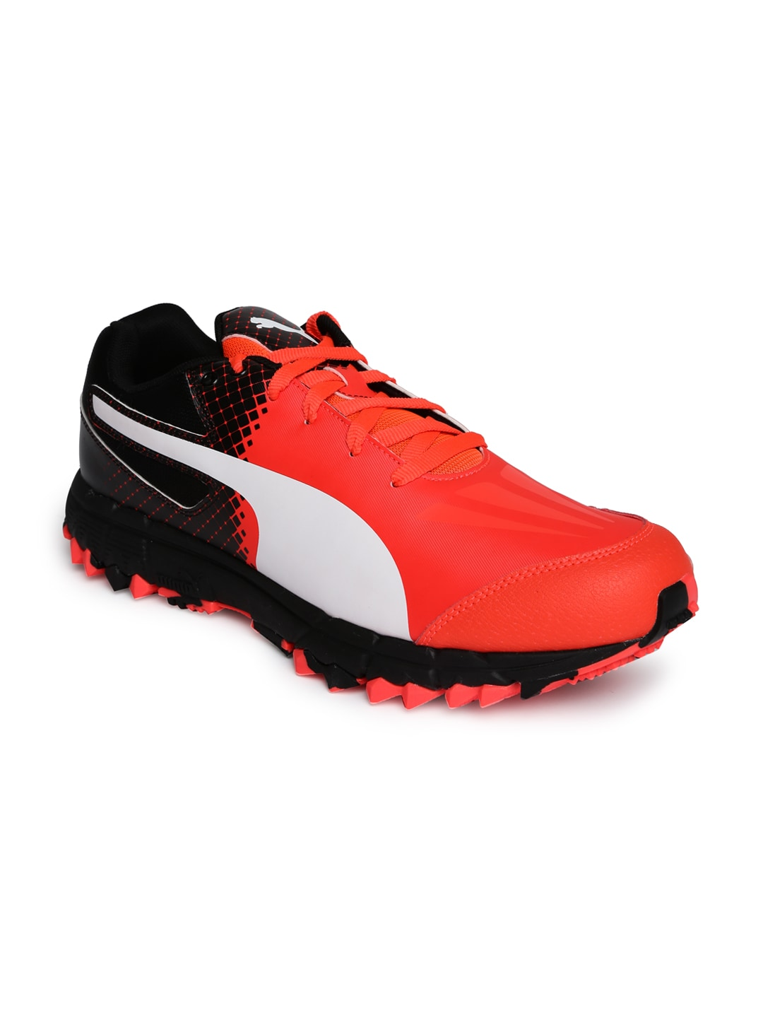 Puma 10378201 Men Orange And Black Printed Hockey Shoes- Price in India 992e83764