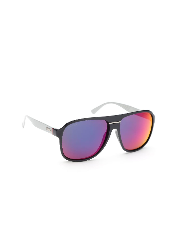 fb426627312 Gucci myn1443709 Unisex Mirrored Square Sunglasses Gg 1076 S Jwocp- Price  in India