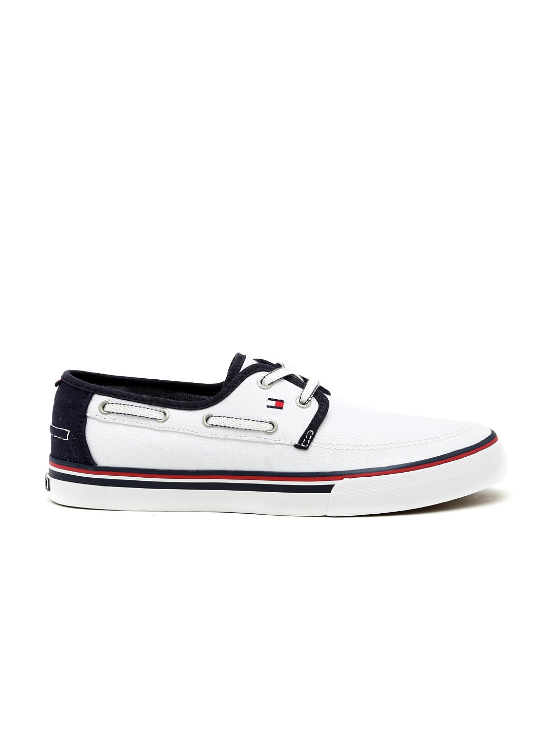 fd381e09b4533 Tommy hilfiger a6amf037 Men White Boat Shoes- Price in India