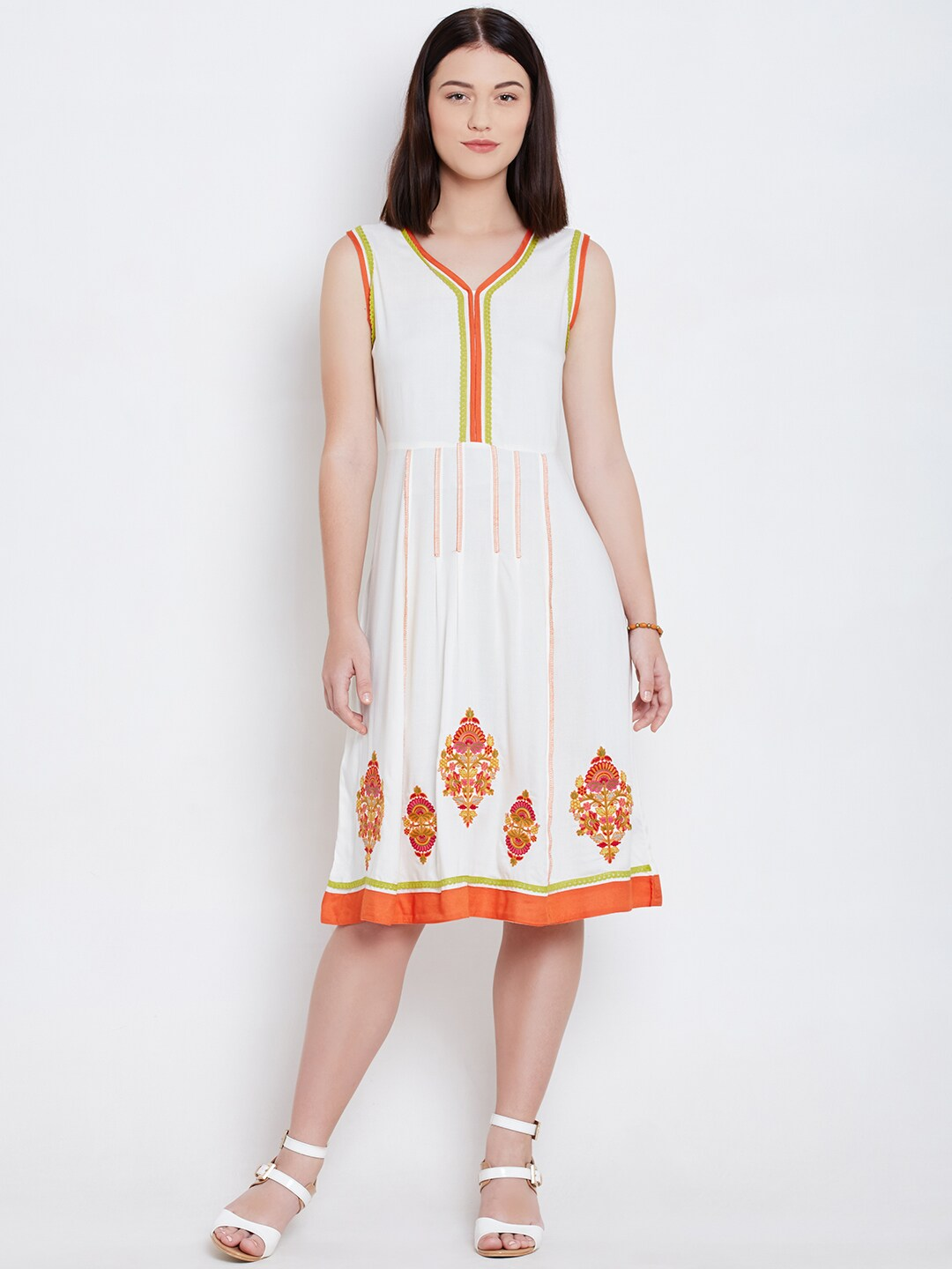 2f56d3abc Buy All About You From Deepika Padukone White Accordion Pleat ...