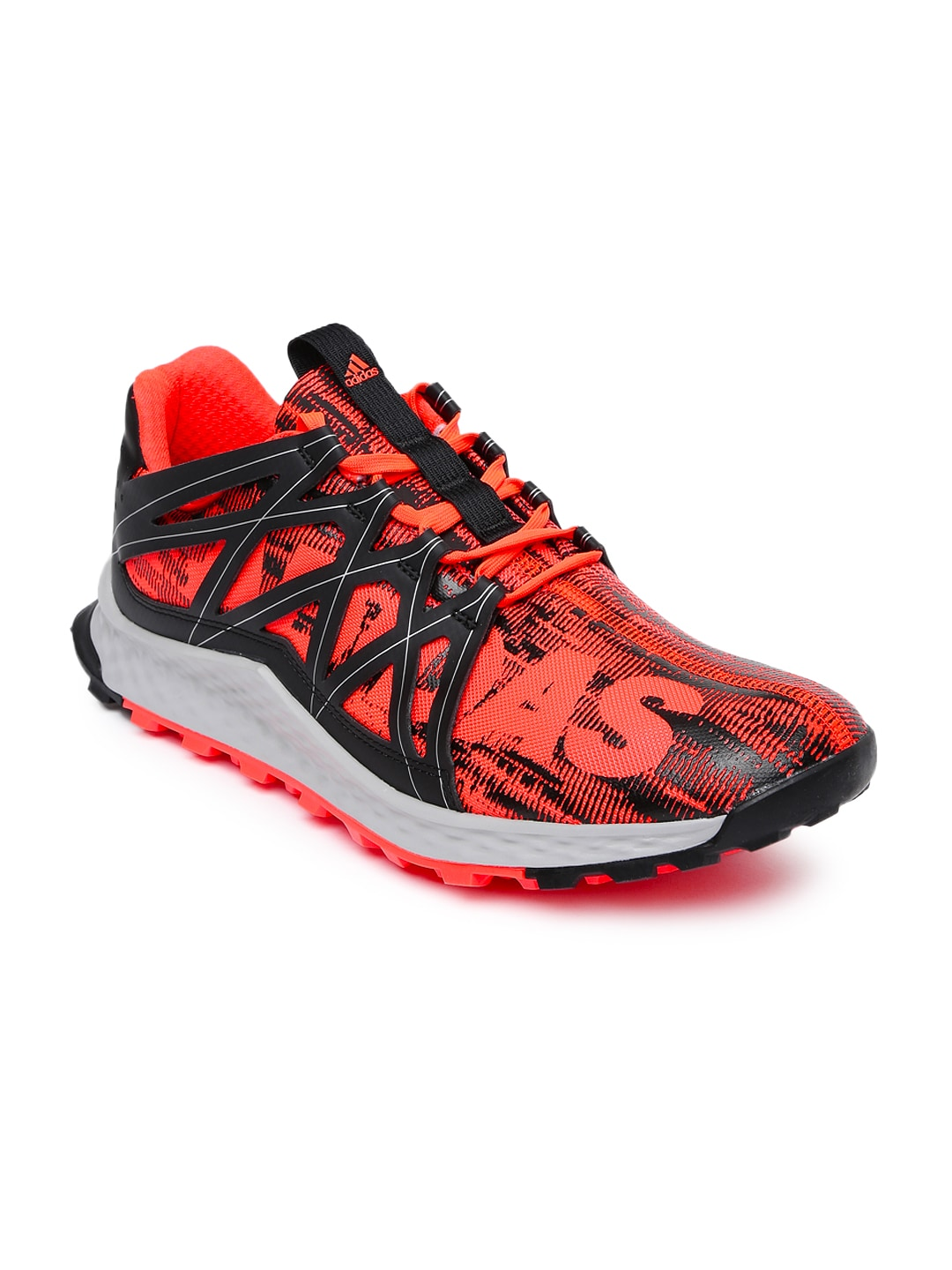 a4604b7825786 Adidas aq7508 Men Neon Orange And Black Vigor Bounce Running Shoes- Price  in India