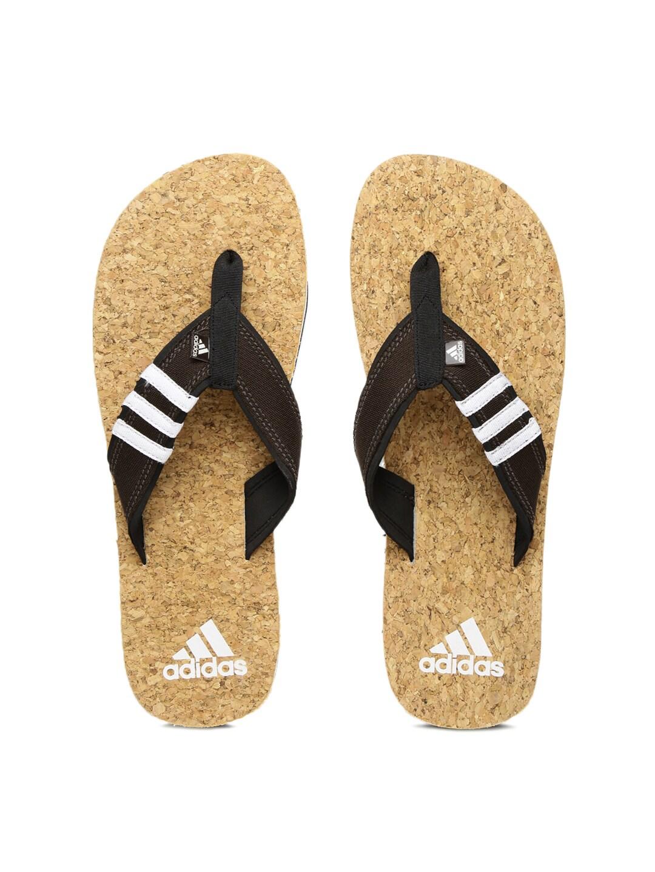 fe157838f Adidas ba5721 Men Brown And Beige Flip Flops - Best Price in India ...