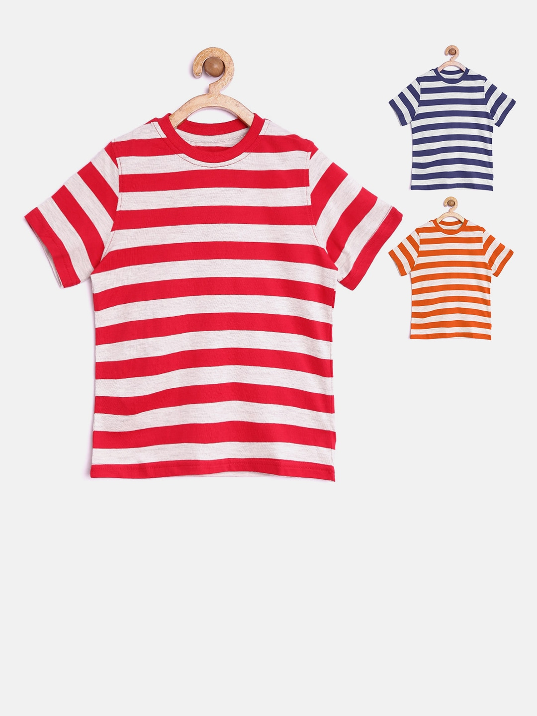 468f35d0e9 Chalk by pantaloons 110010047 Pack Of 3 Boys Striped Round Neck T Shirts-  Price in India