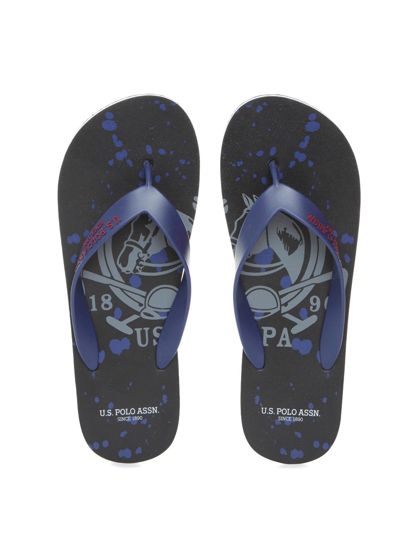 4f1694eb2f1899 Us polo assn 2531616605 U S Polo Assn Men Navy And Black Deck Printed Flip  Flops- Price in India