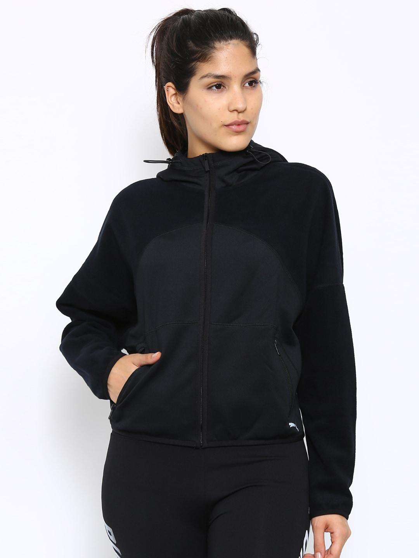 Puma 51457601 Yogini Warm Black Hooded Jacket- Price in India