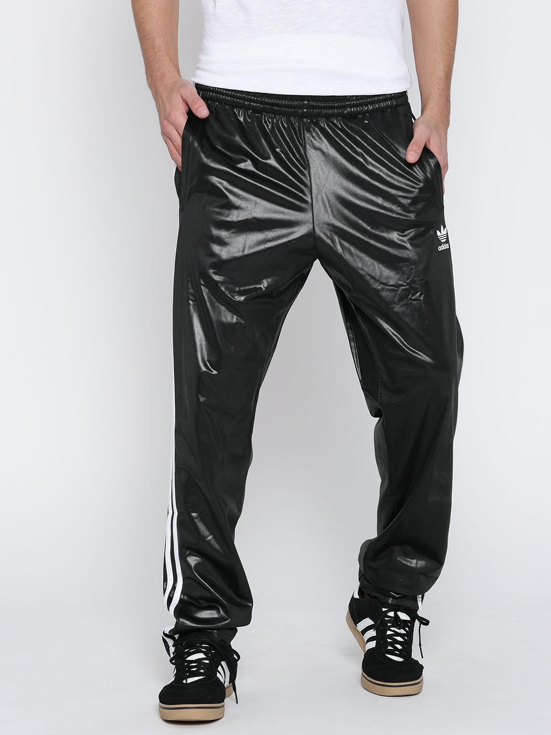 886e355c519f4 Adidas originals ay7716 Black Chile Cuffed Track Pants With Sheen- Price in  India