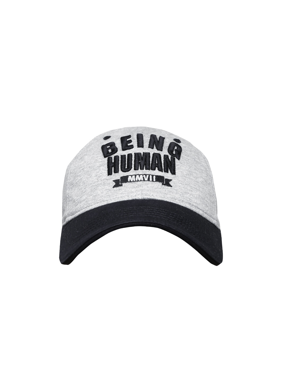 962887befd417 Being human bhmc7002-lt-grey Men Grey And Black Cap - Best Price ...