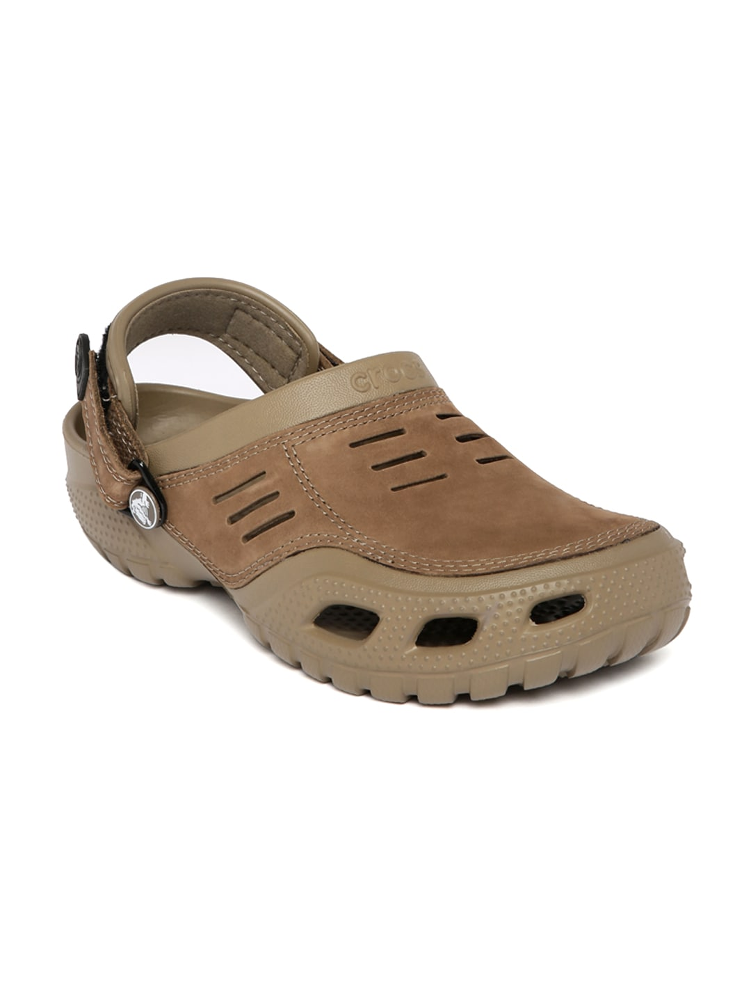 68292da84 Crocs 10931-24r-m10-khaki-coffee Men Khaki Yukon Sport Clogs- Price in India