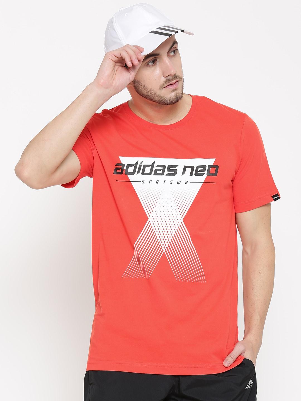 addidas shirt neon corall