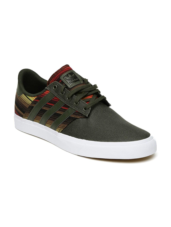 online store 77dc3 8b337 Adidas Originals Men Olive Green Seeley Premiere Skate Shoes