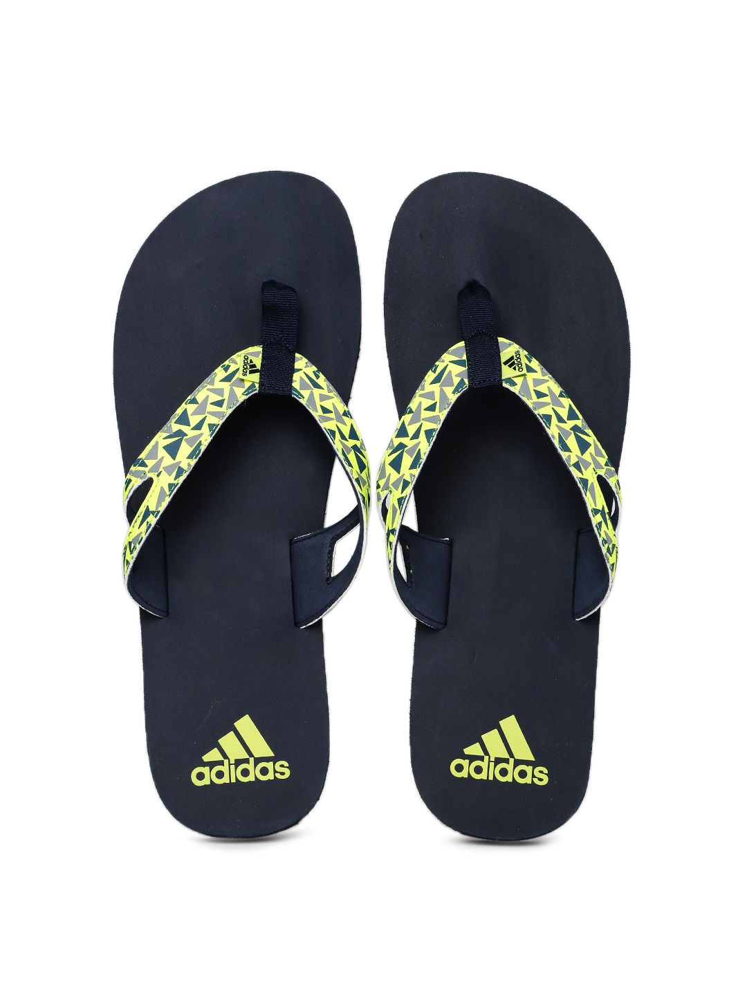 d65b4aa281e6d Adidas ba5717 Men Fluorescent Green And Navy Printed Ozor Flip Flops- Price  in India