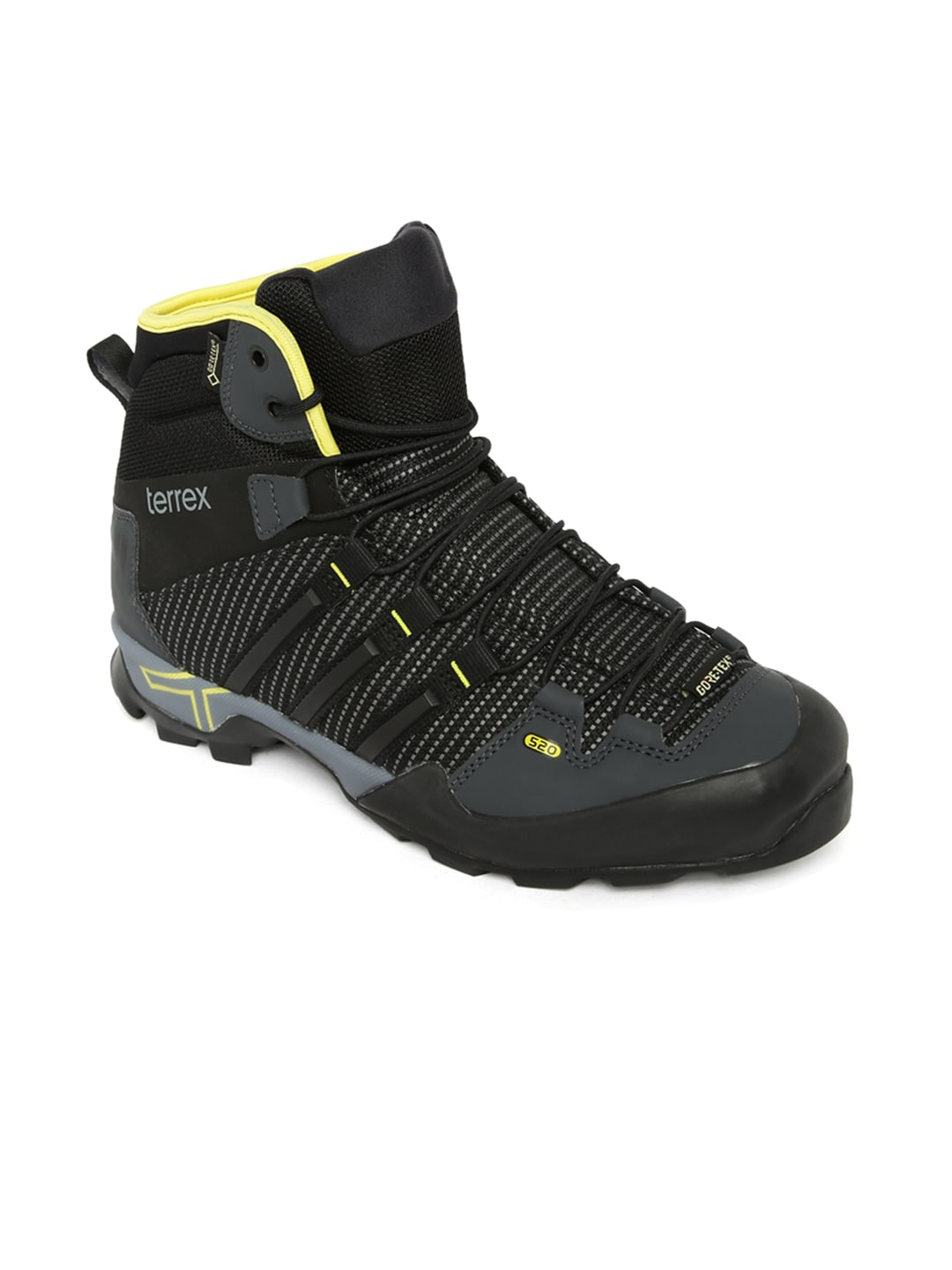 0f12e622ed395e Adidas aq4094 Men Black And Grey Terrex Scope High Top Outdoor Shoes- Price  in India