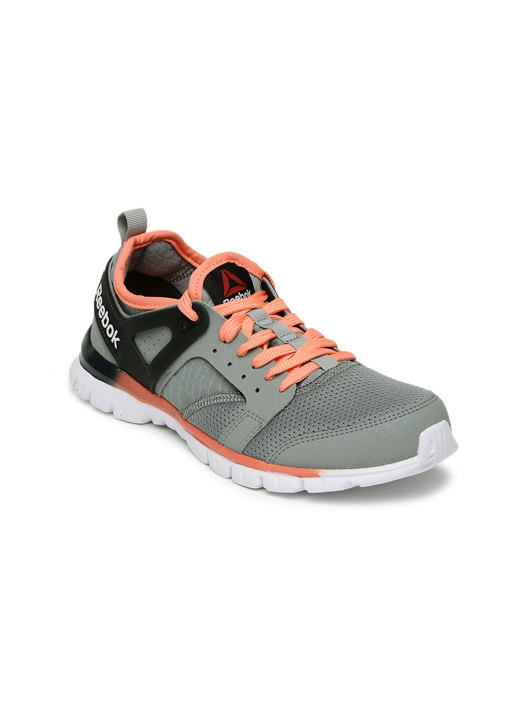 70536397514d13 Reebok bd4075 Women Grey And Peach Coloured Amaze Run Running Shoes- Price  in India