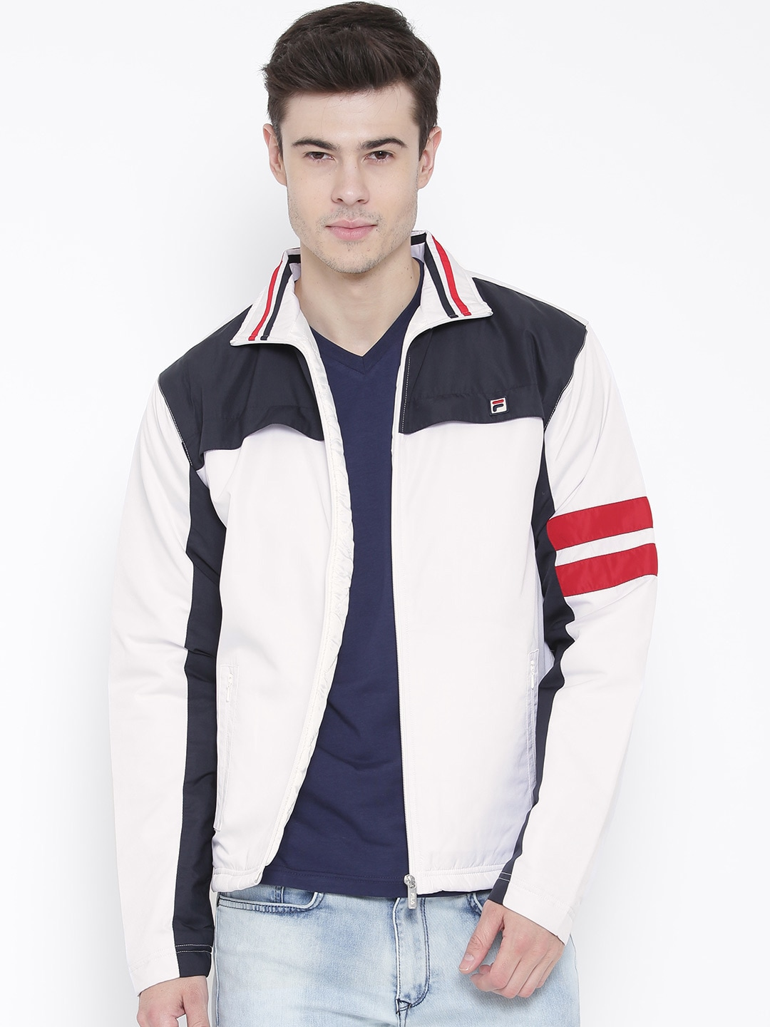 1f2adf28d7fc Fila 12004372 White Cruise Colourblocked Jacket - Best Price in India ...