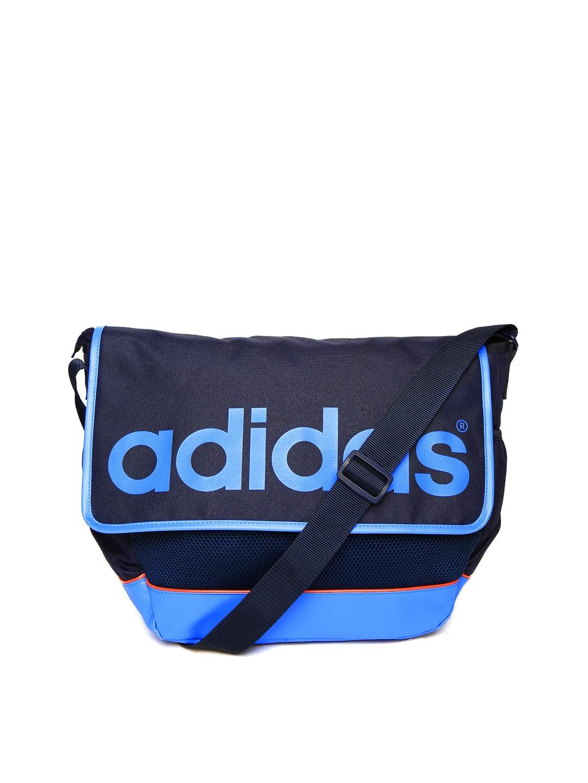 6ee9684e33db Adidas neo az0882 Men Blue Logo Print Daily Messenger Bag- Price in India
