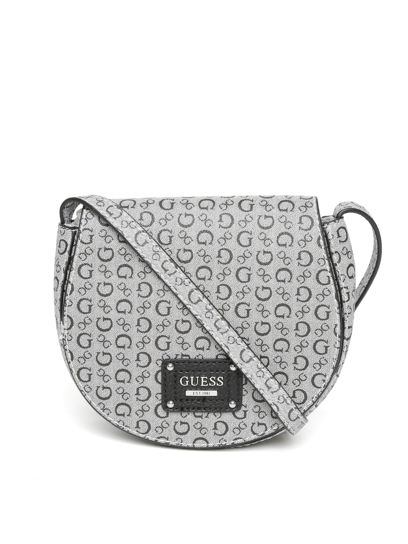 129b3de7ce09 Guess sv644579 Grey Logo Print Sling Bag - Best Price in India ...