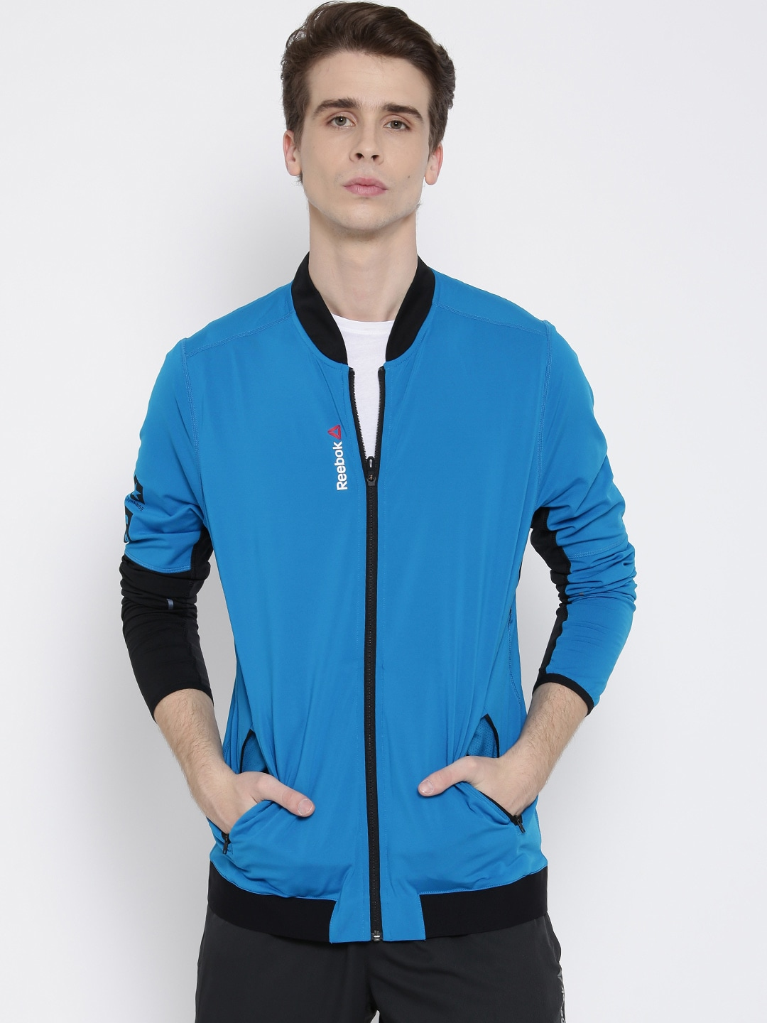 9d19259f681 Reebok s93610 Blue Os Trk Slim Training Jacket - Best Price in India ...