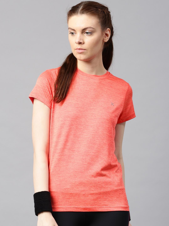 Design your t shirt myntra - Hrx By Hrithik Roshan Women Printed Round Neck Running T Shirt