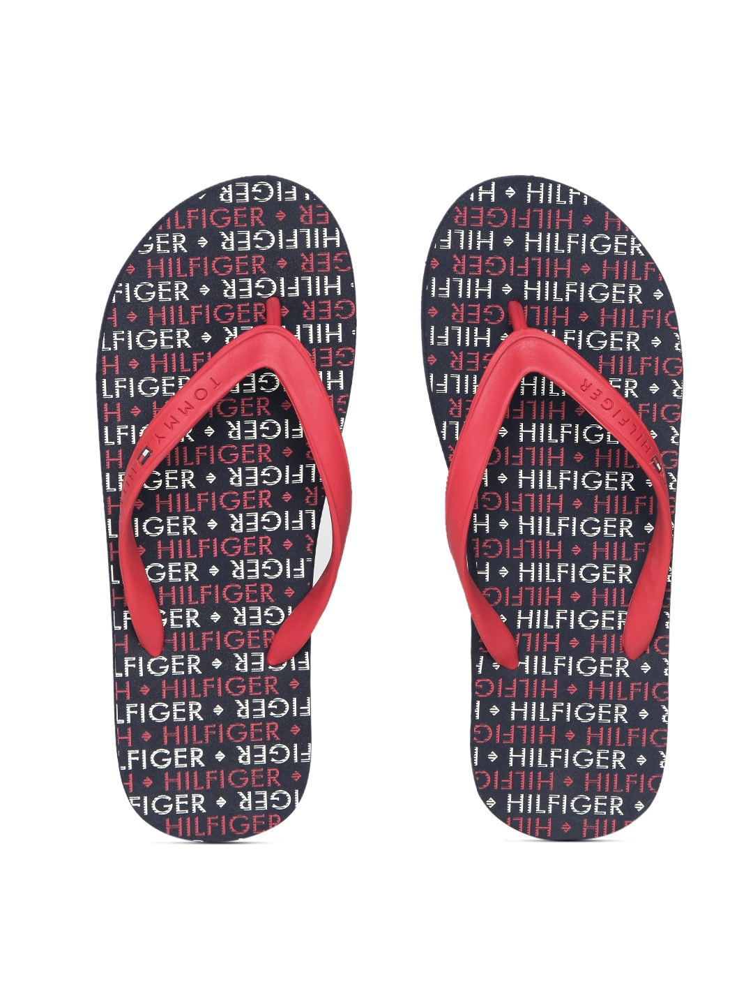 789280e6f3e194 Tommy hilfiger a4amf033 Men Red And Navy Printed Flip Flops- Price in India