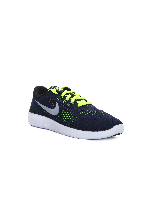 7677945baaf2f Nike 833989-403 Boys Navy Free Run Running Shoes - Best Price in ...