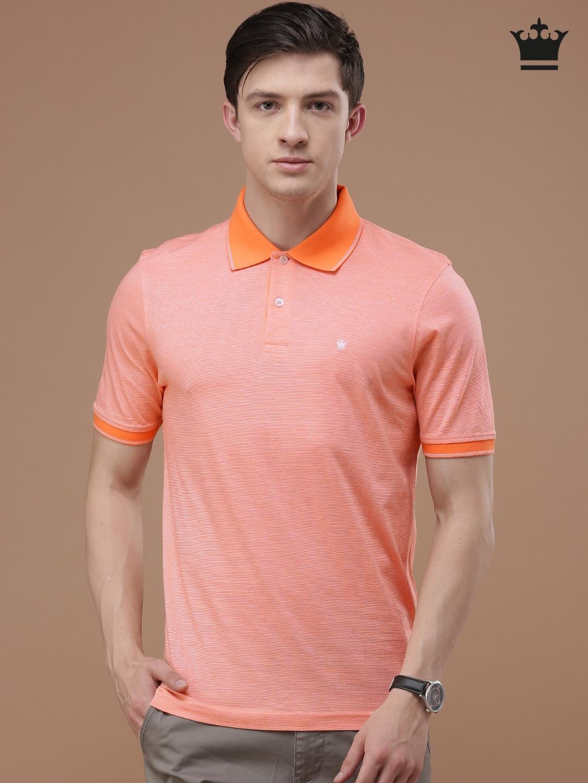 Design your t shirt myntra - Louis Philippe Men Green Self Design Polo Collar T Shirt