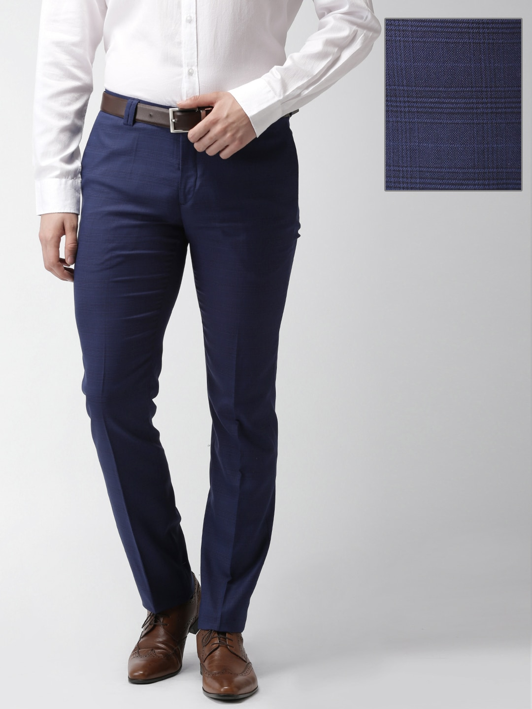 Slim Fit Trousers Buy Online In India Tendencies Navy Chinos Short 32