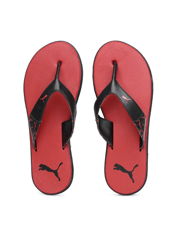 241e793b3e97 Puma 36213001 Men Black And Red Printed Flip Flops - Best Price in ...