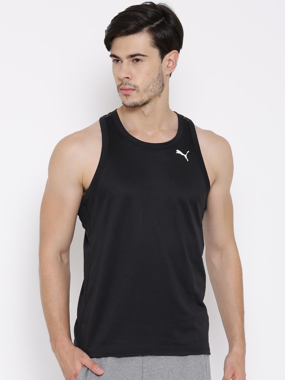 5b2687704a8 Puma 51468601 Black Sleeveless Drycell Running T Shirt - Best Price ...