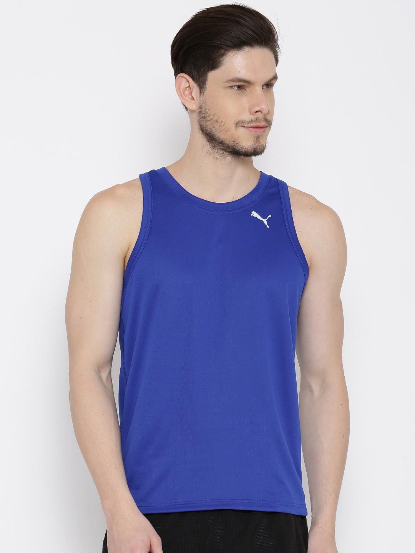 84c31e2438d Puma 51468608 Blue Sleeveless Drycell Running T Shirt - Best Price ...