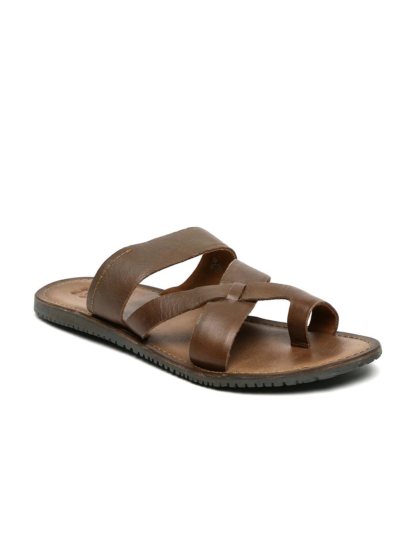 31b5972bf46 Estd 1977 6602-tan Estd 1977 Men Brown Leather Sandals- Price in India